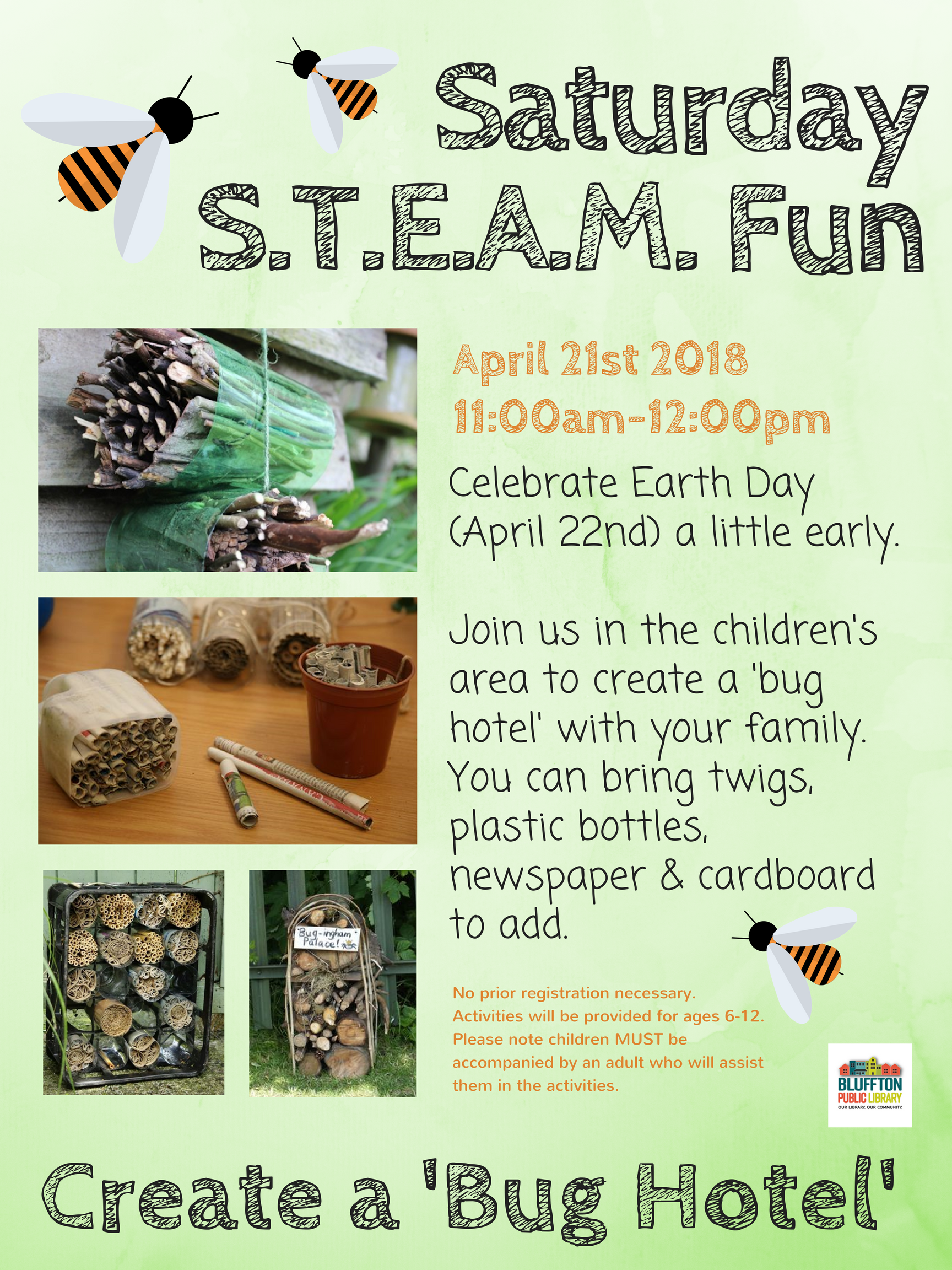Saturday S T E A M  Fun | Bluffton Public Library