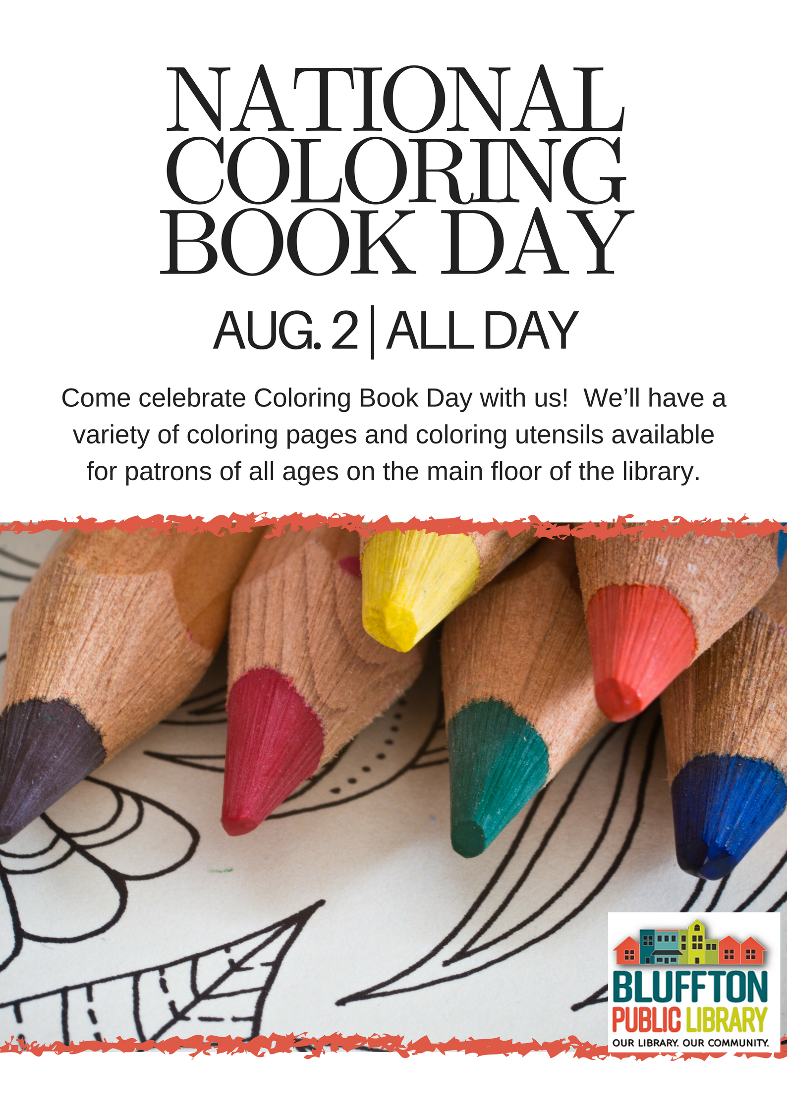National Coloring Book Day Bluffton Public Library